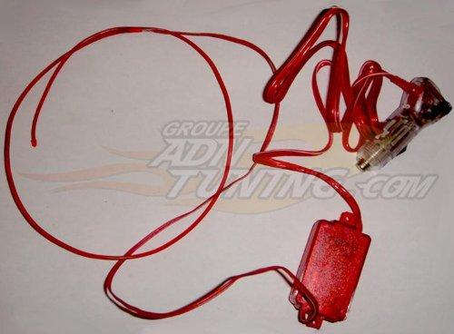 Neon Filaire - 2m - Rouge - Fibre optique - 12V - 666-CaL