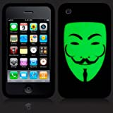 iPhone 3GS / 3G Glow In The Dark 'V for Vendetta' Inspired (Designed by Creative Eleven) Silicone Skin Case / Cover / Shell - Part Of The Qubits Accessories Rangeby Qubits
