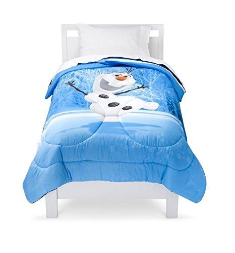 Disney Frozen Olaf Twin Comforter, Sheet and Blanket Bedding Bundle