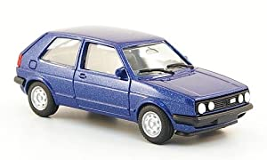 VW Golf II Gti, met.-blau, Modellauto, Fertigmodell, Herpa 1:87