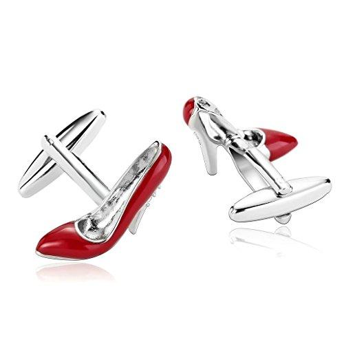 Epinki Uomo Acciaio Inossidabile Glitter Estirpare Alta Tacco Concorso Scarpe Rosso Elegantee Moderno Gemelli
