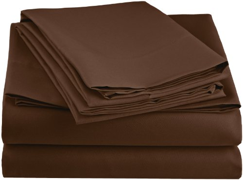 Simple Elegance New York Luxury Sheet Set, Twin, Chocolate front-632828