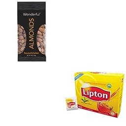 KITLIP291PAM042322F2OA - Value Kit - Paramount Farms Wonderful Almonds (PAM042322F2OA) and Lipton Tea Bags (LIP291)