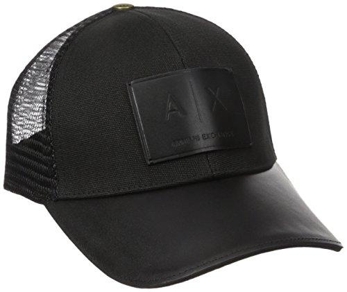 Armani Exchange Men's Logo Patch Mesh Hat, Black, One Size (Armani Cap compare prices)