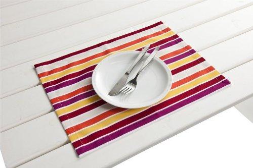 """4 Stück Outdoor TISCHSET """"Antibes rot-gelb"""" Placemat Gartentisch Tisch- Platzset abwaschbar 30cmx40cm jetzt kaufen"""