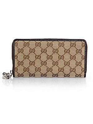 Gucci GG Twins Continental Zip Wallet