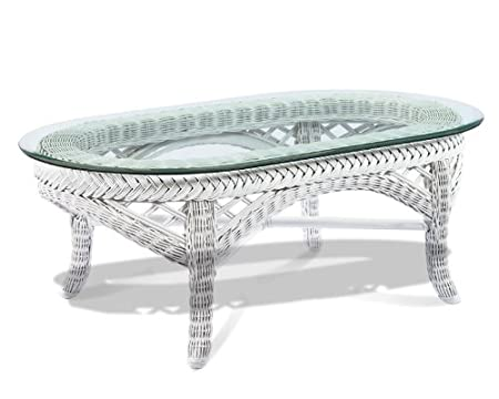 White Wicker Coffee Table - Lanai
