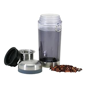 Danesco 12-Ounce Travel Mug with Tea Infuser, Grey