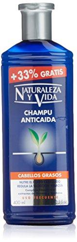 Naturaleza y Vida Shampoo, Anticaida Cabellos grasos, 300 ml