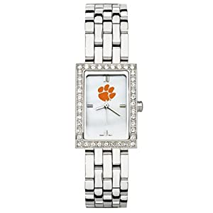 CZNSW22317Q-w-Clemson University Watch - Stainless Steel & Cz by NCAA Officially Licensed