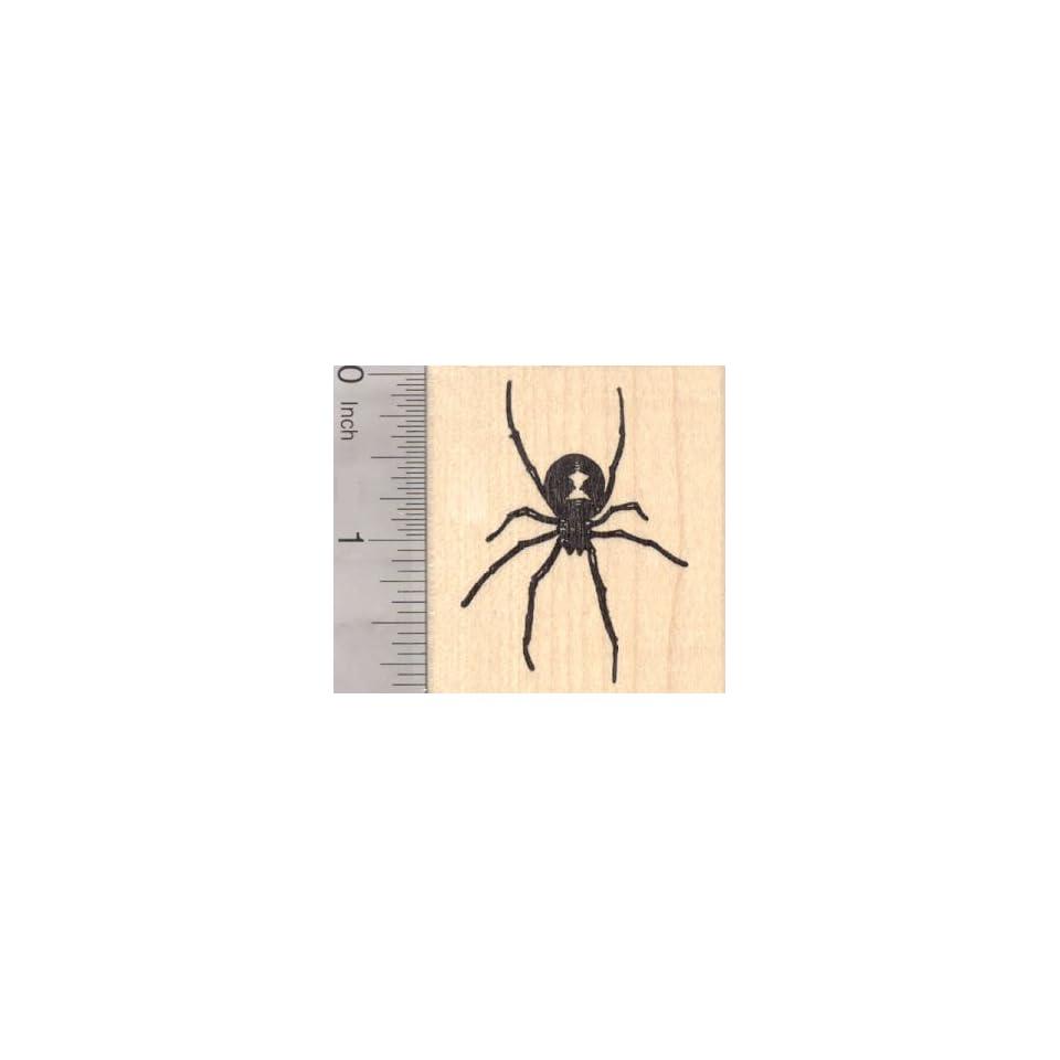 Black Widow Spider Rubber Stamp