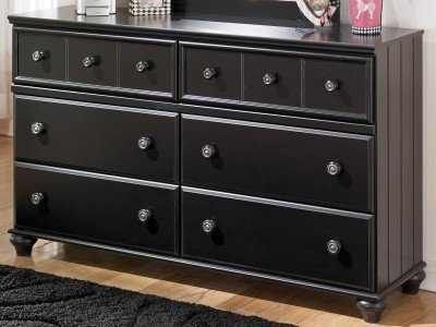 Jaidyn Youth Black Bedroom Dresser