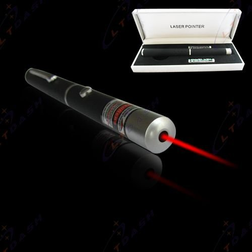 5mw 650nm Astronomy Powerful Red Laser Pointer --Black(Include box + 2 AAA batteries)