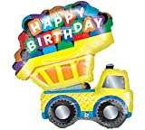 "Happy Birthday Dump Truck 33"" Mylar Balloon"