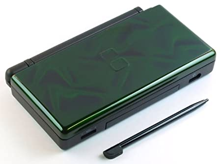 3D Green Nintendo DS Lite Complete Full Housing Shell Case Replacement Repair w/ Hinge Set