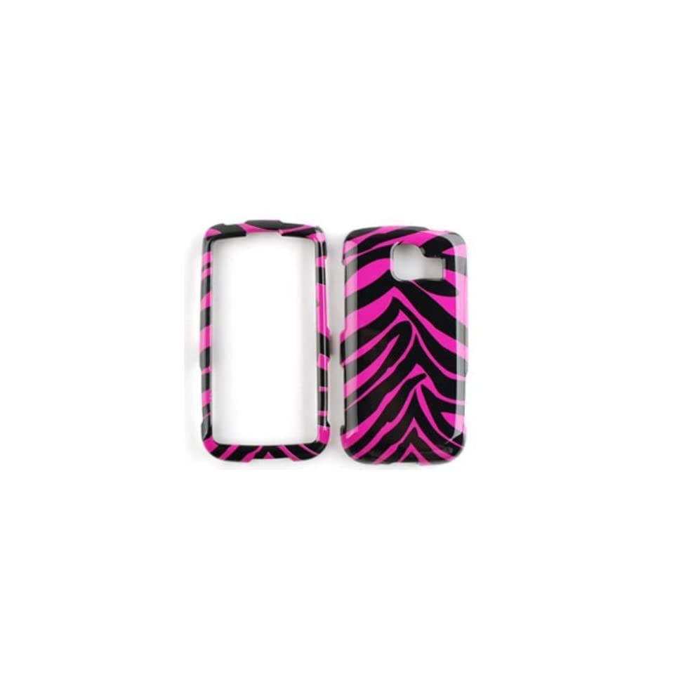 LG Optimus S LS670 Pink Zebra Skin Hard Case,Cover,Faceplate,SnapOn,Protector