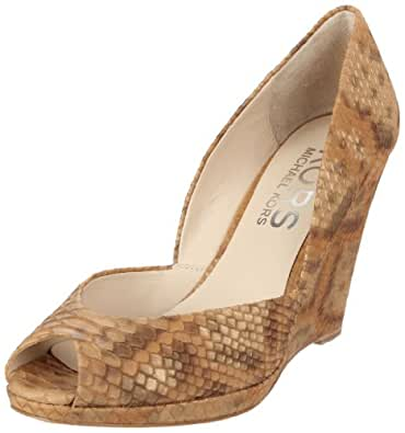 KORS Michael Kors Women's Vail Wedge Pump,Peanut,5.5 M US