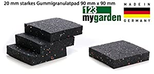 gummigranulat pads 20 mm stark f r terrassen bau fundament f r wpc terrassendielen holz dielen. Black Bedroom Furniture Sets. Home Design Ideas