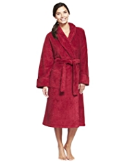 Shawl Collar Cosy Sparkle Effect Dressing Gown
