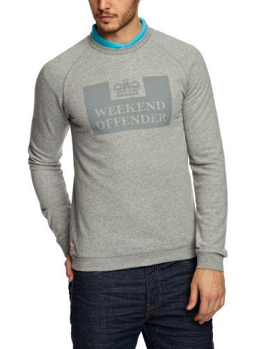 Weekend Offender Peneteniary Tonal Men's Jumper Grey Marl X-Large