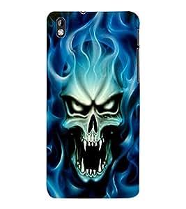 ColourCraft Skull Design Back Case Cover for HTC DESIRE 816