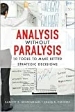 img - for Analysis Without Paralysis 1st (first) edition Text Only book / textbook / text book