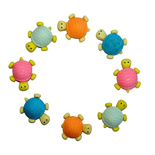 Dazzling Toys Adorable Turtle Erasers - Set Include 12 Erasers - 1