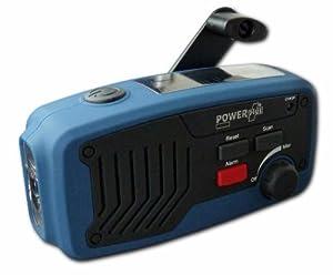 Powerplus Panther tragbares Solarradio Dynamoradio mit integrierter Taschenlampe Handyladefunktion und Ladegerätblau von Powerplus