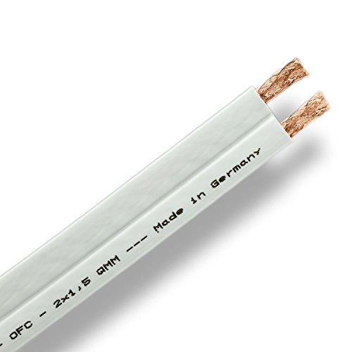 DCSk-PROflat-15-HiFi-Lautsprecherkabel-wei-17mm-flach-2x15mm-9999-OFC-Kupfer-flexibel-10m-Ring