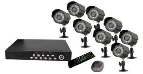 Vonnic DK3258B 8-Channel + 8 CMOS Camera H.264 500 GB Remote View DVR with All-In-One CCTV Surveillance Camera Kit - Retail (Black)