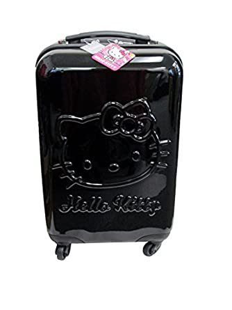 Hello Kitty Embossed 20 Inch Spinner Luggage, Black, One Size