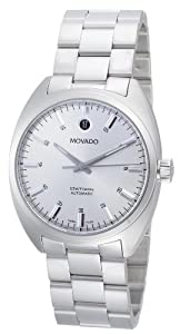 Movado Men's 0606360 Datron Stainless-Steel Silver Round Dial Watch