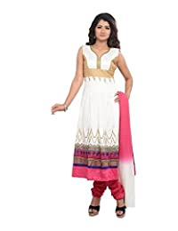 Sareeshut Women's Cotton Regular Fit Anarkali Suits - B00WQZ2RA8