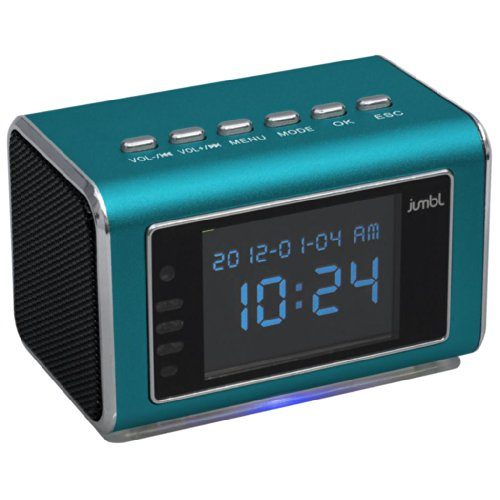 Jumbl™ Mini Hidden Spy Camera Radio Clock W/Motion Detection & Infrared Night Vision - Built-In Screen, Speaker, Micro Sd Slot & Aux Line In - Standalone Operation W/O Need For Computer For Your Home, Kids & More - Blue