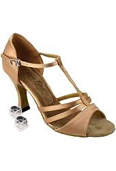 """Very Fine Women's Salsa Ballroom Tango Dance Shoes 1683 Bundle - Dance Shoe Heel Protectors 2.5"""" Heel"""