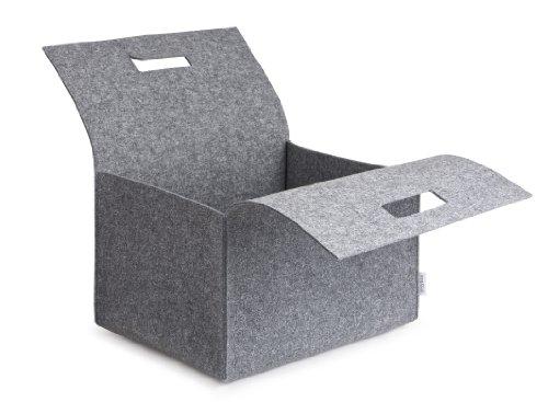 greybax Porter - Filz-Tragebox, Kaminholzkorb,