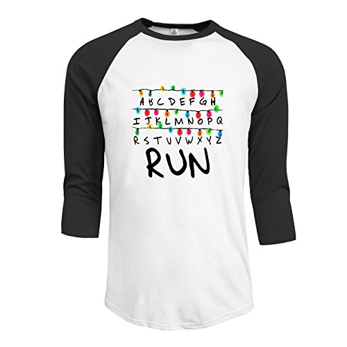 Men's Stranger Things Christmas Lights Run Raglan T-Shirt