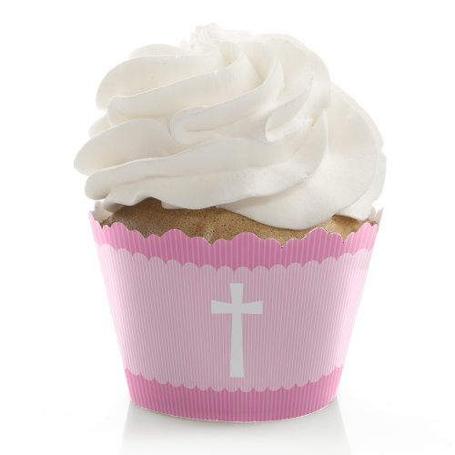 Delicate Pink Cross - Cupcake Wrappers (Set Of 12) front-671781