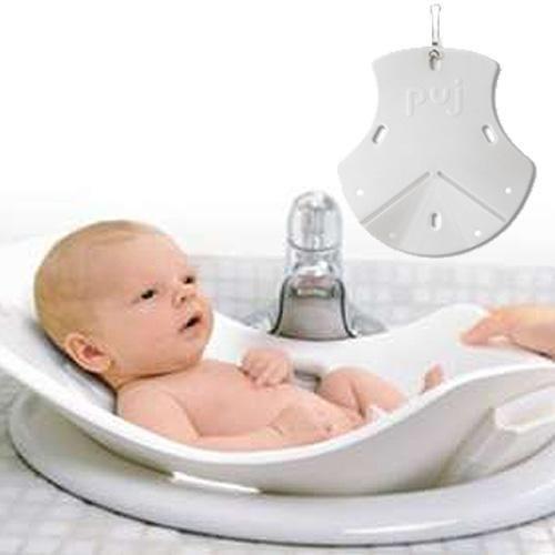 Puj Tub - The Soft, Foldable Baby Bath Tub, White