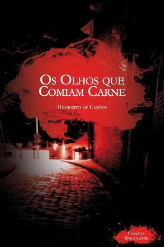 capa de livro: 'OS OLHOS QUE COMIAM CARNE'