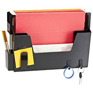 Plus Letter Pared Organizador, Negro File (23192) : Office Products
