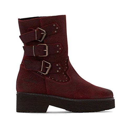 Coolway Donna Boots In Pelle Scamosciata Con Cinturini Baboon Taglia 38 Rosso