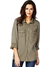 Indigo Collection Studded Shirt