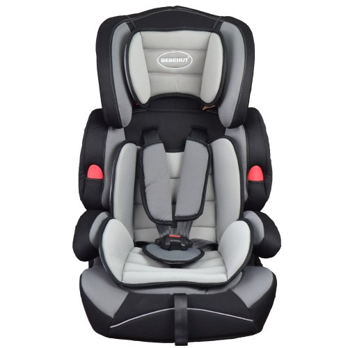 Bebehut Ventura Elite Convertible Child Car Seat Group 1,2&3,9-36kg (Grey Black BAB001-H03)