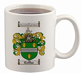 Coffee Coat of Arms Mug / Family Crest 11 ounce cup