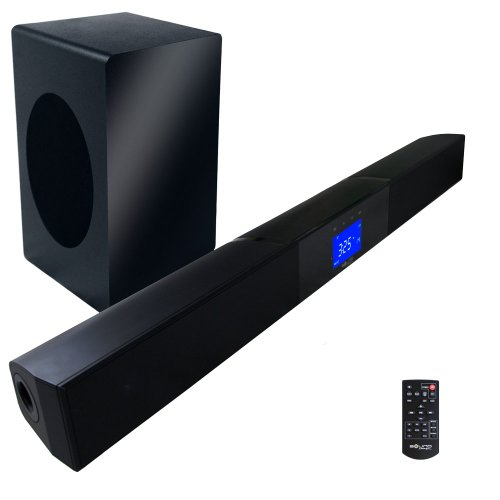 "2.1 Soundbar W 6.50"" Wireless Subwoofer And Maxbass Chip By Sound Appeal"