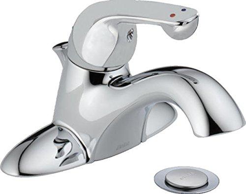 Delta Commercial 520LF-HDF Classic Single Handle Centerset Lavatory Faucet, Chrome