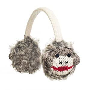 Adult Cute Sock Monkey Earmuffs
