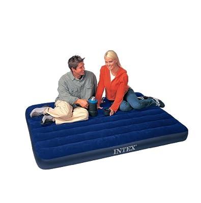 aufblasbares Luftbett Downy Blue Full - Masse: 137 X 191 X 22 cm - von Intex