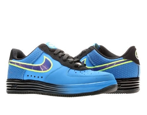 Nike Lunar Air Force 1 Leather (Gs) Boys Basketball Shoes 580538-400 Photo Blue 6 M Us front-408620